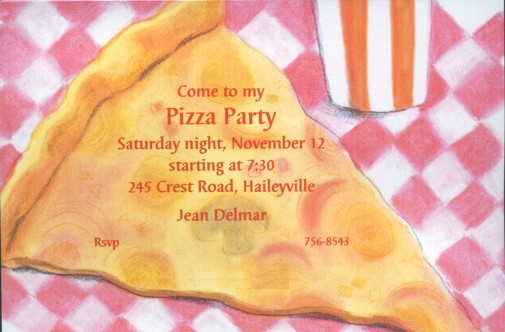 Pizza Party. (invite-food-IN-18). Order This Invitation