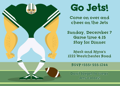 football and super bowl party invitations personalized football, Party invitations