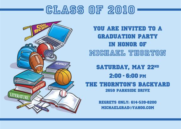 Graduation Party Invitations Personalized Graduation Cutouts Candy