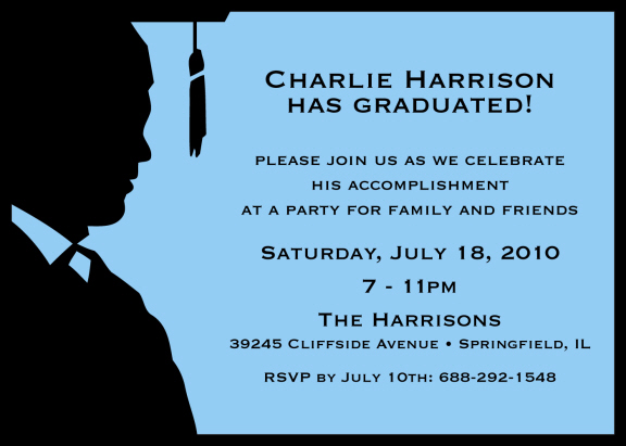 male graduation party invitations personalized graduation cutouts