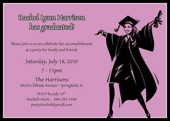 Female graduation party invitations personalized graduation cutouts custom graduation invitations filmwisefo