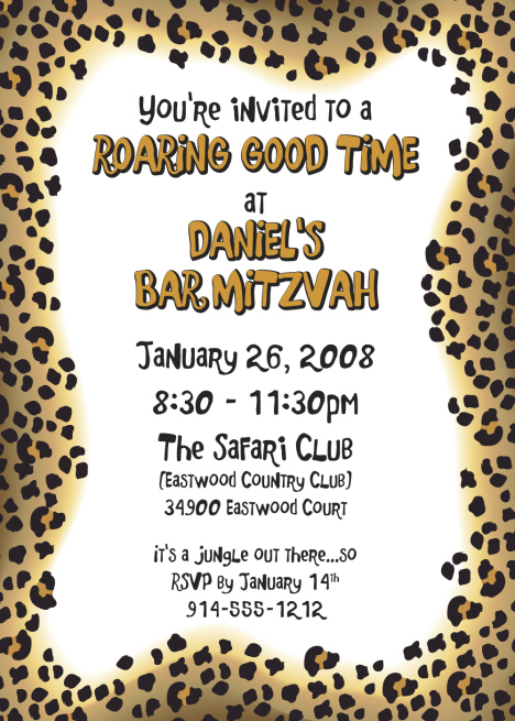 Jungle Safari Birthday Party Invitations Personalized Jungle Party