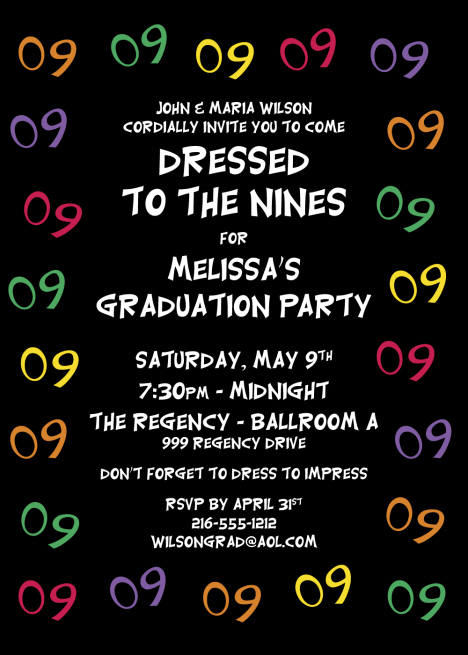 Graduation party invitations personalized graduation cutouts candy personalized graduation 2009 invitation stopboris Images