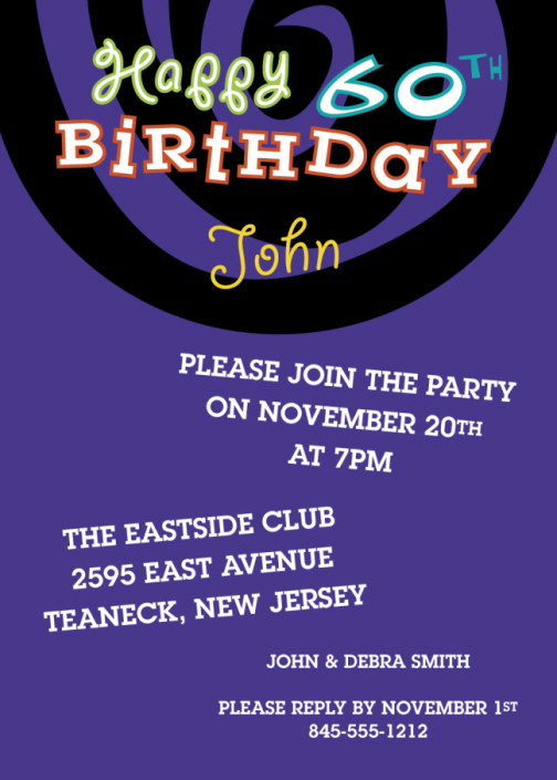 free samples free 60th birthday invitation wording template and guide