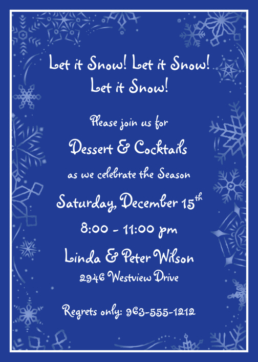 winter wonderland holiday party invitations personalized winter, Party invitations