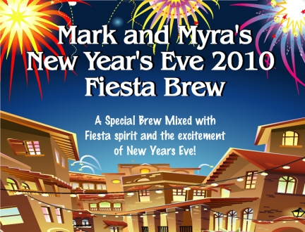 new years fiesta beer bottle label