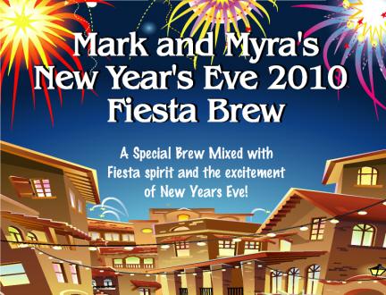 new years fiesta beer bottle label