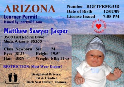 Personalized Driver's License Invitations and Birth ...