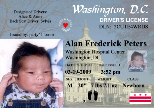 washington dc drivers license number
