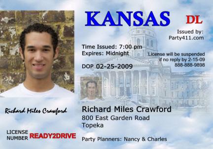 Carriage House Plans: Drivers License Kansas