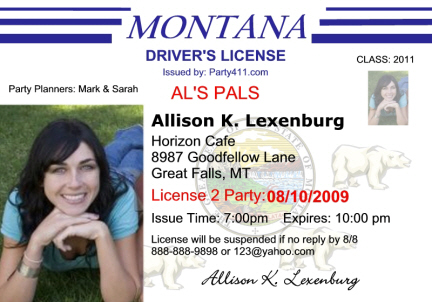 Driver's Announcements License And Birth Invitations Personalized