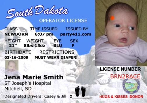 personalized driver u0026 39 s license invitations and birth