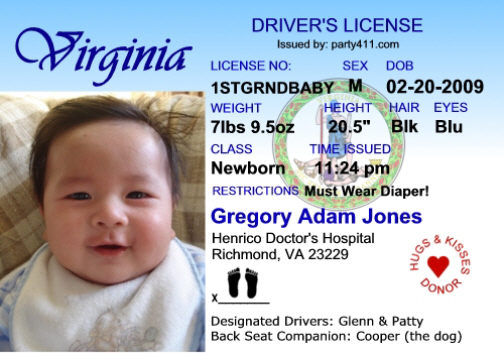 Birth License Personalized And Announcements Invitations Driver's