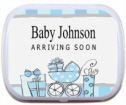 Personalized Baby Boy Shower Mint Tins and Candy Tins, Baby Shower Candy, Mints, Baby Shower Favors