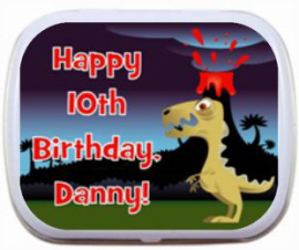 Personalized Dinosaur Theme Mint Tins And Candy Birthday Mints Party Favors