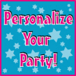 Personalized Bar Mitzvah and Bat Mitzvah Party Invitations, Candy Bar Wrappers, Water Bottle Labels, Life-sized Cutouts, Personalized Party Favors