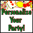 Personalized Casino Party Invitations, Candy Bar Wrappers, Water Bottle Labels, Life-sized Cutouts, Personalized Party Favors
