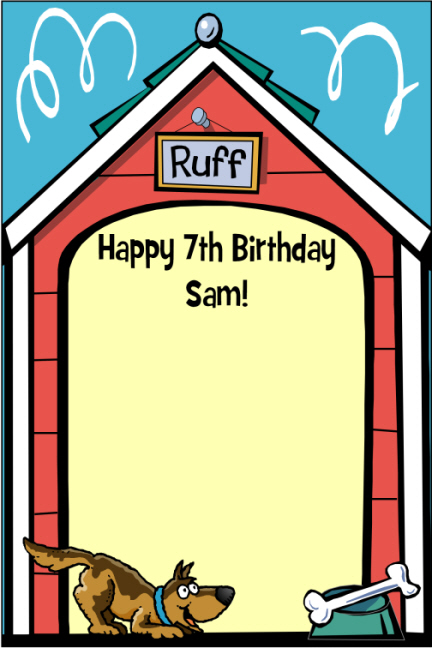 custom puppy dog theme sign in board - Dog Party Invitations