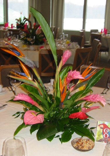 Table centerpiece for luau home ideas