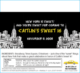 Personalized New York Theme Candy Bar Wrapper