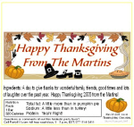Thanksgiving Custom Candy Bar Wrapper