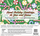 Corporate Holiday Candy Bar Wrapper