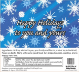 Custom Holiday Candy Bar Wrapper